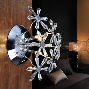 壁掛けライト ウォールランプ 玄関照明 クリスタル 照明器具 花束型 オシャレ 3灯
