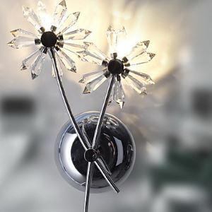 壁掛けライト ウォールランプ 照明器具 玄関照明 クリスタル 花型 オシャレ 2灯