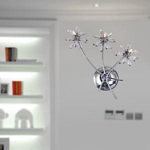 壁掛けライト クリスタル壁掛け照明 花束デザイン 3灯