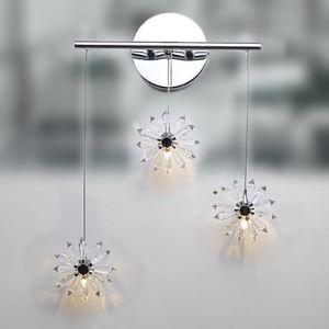 壁掛けライト ブラケットランプ クリスタル照明 玄関照明 花型 オシャレ 3灯