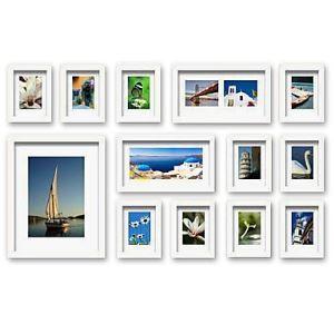 壁掛けフォトフレーム 写真用額縁 フォトデコレーション 白い枠 13個セット 複数枚