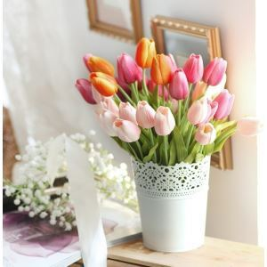 造花 チューリップ 花瓶付き
