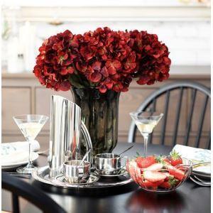 造花 アジサイ 小さなガラス花瓶付き