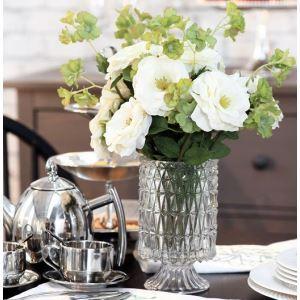 造花 ローズ&桜 小さなクリスタル花瓶付き