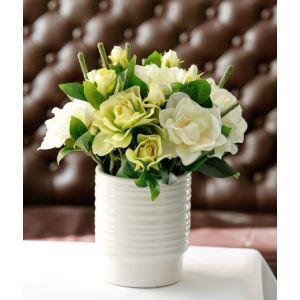 造花 ガーデニアス セラミック花瓶付き