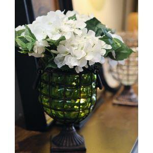 造花 スコットランドアジサイ ガラス花瓶付き