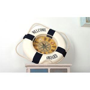 壁掛け時計 地中海風 装飾的なブイ付き