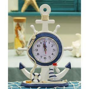 置き時計 地中海風 装飾的な操舵手付き