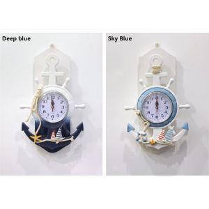 壁掛け時計 地中海風 装飾的な操舵手付き