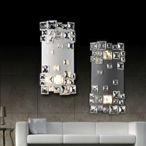壁掛けライト ウォールランプ 照明器具 玄関照明 クリスタル 創意的 2灯