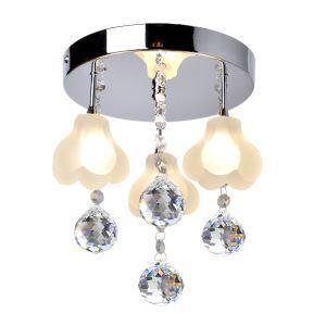 シーリングライト 天井照明 照明器具 玄関照明 クリスタル付 オシャレ 3灯
