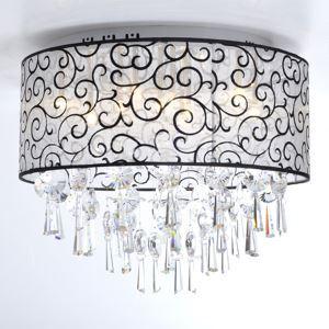 シーリングライト 照明器具 天井照明 リビング用 寝室用 クリスタル付 オシャレ 4灯