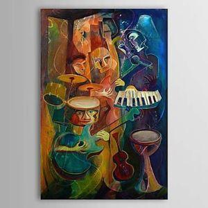 油絵画 手描き抽象画 ファン・ゴッホの手描き「音楽」画 フレームなし 1303-AB0419