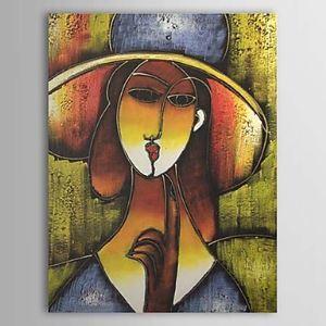 油絵画 手描き人物画 1303-AB0329