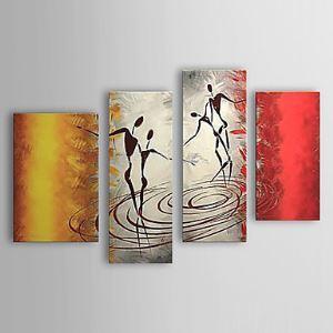 油絵画 手描き人物画 4個セット 1303-AB0401
