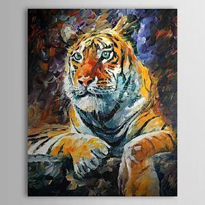 油絵画 手描き動物画 虎 1304-AN0066