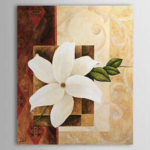 油絵画 手描き植物画 フレームなし 1305-FL0114