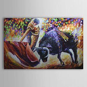油絵画 手描き風景画 闘牛 1303-LS0248