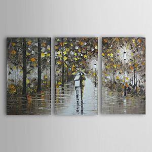 油絵画 手描き風景画 フレームなし 3枚入り 1303-LS239