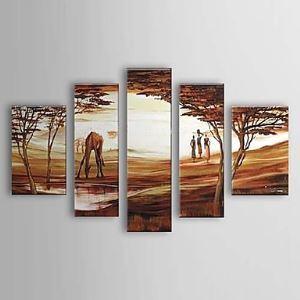 油絵画 手描き風景画 5枚セット 1303-LS0237