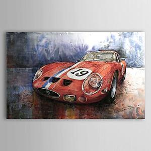 油絵画 手描き画 車 1303-SL0058