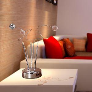 テーブルランプ テーブル照明 テーブルライト スタンド K9クリスタル 口金G4-3灯