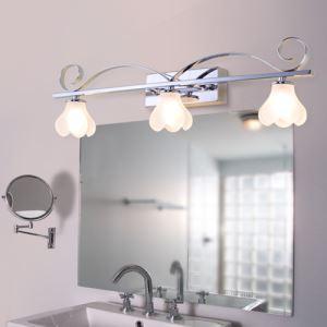 LEDミラ前用照明 壁掛けライト ブラケット ウォールランプ 花型 3灯 LED対応