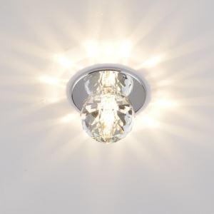 シーリングライト ダウンライト 玄関照明 埋め込み式 クリスタル照明 1灯