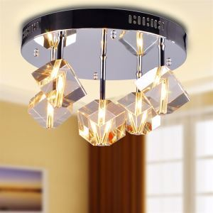 シーリングライト 天井照明 照明器具 玄関照明 クリスタル付 オシャレ照明 G4-5灯