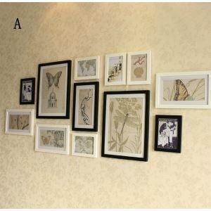 壁掛けフォトフレーム 写真用額縁 フォトデコレーション 12個セット 複数枚