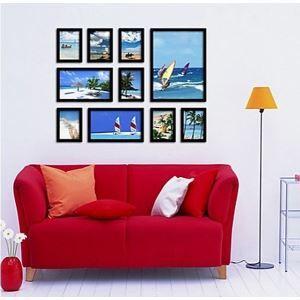 壁掛けフォトフレーム 写真用額縁 フォトデコレーション 10個セット 複数枚