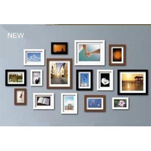 壁掛けフォトフレーム 写真用額縁 フォトデコレーション 1FZ-2015コレクション 15個セット 複数枚