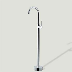 床置きシャワー水栓 床立ち上げ式浴槽蛇口 バス水栓 冷熱混合栓 クロム