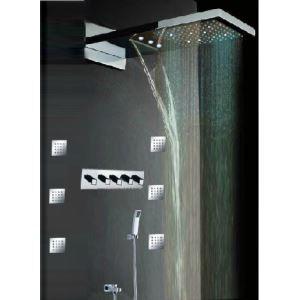 LED埋込形シャワー水栓 レインシャワーシステム シャワーバー 多機能 クロム