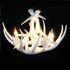 シャンデリア ペンダントライト リビング照明 ダイニング照明 鹿角照明 店舗 樹脂製 4灯 白色 北欧風 LED対応