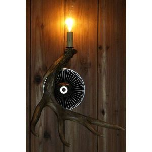 壁掛け照明 ウォールライト 壁掛けライト 玄関照明 樹脂製 茶褐色 1灯 LED電球付 SWHA1L1N1