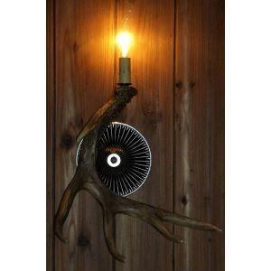 壁掛け照明 ウォールライト ブラケット 鹿角照明 玄関照明 樹脂製 樹脂製 茶褐色 1灯 LED対応 SW1L1N1
