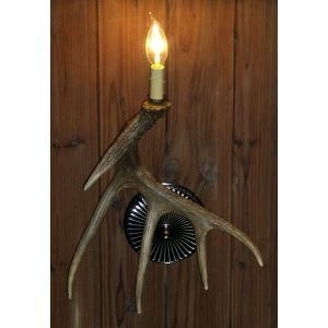 壁掛け照明 ウォールライト ブラケット 鹿角照明 玄関照明 樹脂製 樹脂製 茶褐色 1灯 LED対応 SW1L1N3