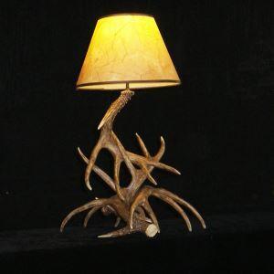 鹿角テーブルランプ 卓上照明 間接照明 テーブルライト 鹿角照明 樹脂製 茶褐色 1灯 LED電球付 LW4L1N1