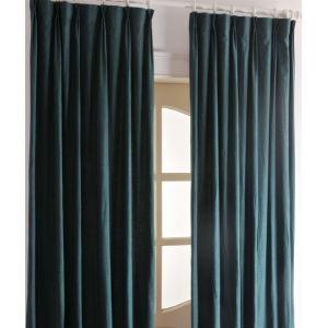 極細繊維カーテン オーダーカーテン UVカット ロイヤルブルー 無地柄 1級遮光カーテン(1枚) LZ2037
