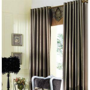 極細繊維カーテン オーダーカーテン UVカット 灰色 無地柄 ポリエステル 1級遮光カーテン(1枚) LZ2064