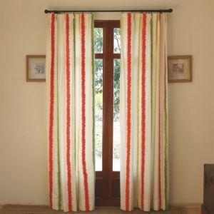 遮光プリントカーテン オーダーカーテン 縦縞柄 3級遮光カーテン(1枚)-802