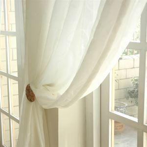 シアーカーテン オーダーカーテン 北欧風 ジャカード 花柄 ポリエステル レースカーテン(1枚) LZ853