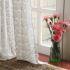 シアーカーテン オーダーカーテン 北欧風 ジャガード織り 花柄 ポリエステル レースカーテン(1枚) LZ861