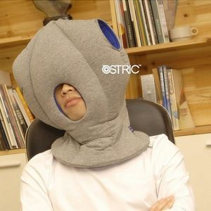 かぶるまくら ダチョウの造形 お昼寝枕&旅行用枕