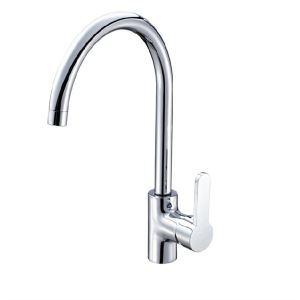 キッチン蛇口 台所蛇口 冷熱混合水栓 回転可能 クロム