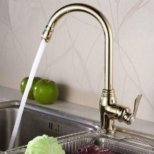 キッチン蛇口 台所蛇口 冷熱混合水栓 回転可能 Ti-PVD