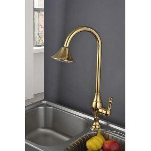 キッチン水栓 台所蛇口 冷熱混合栓 水道蛇口 シャワー状吐水口 Ti-PVD(HM3019)
