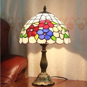 テーブルランプ ティファニーライト ステンドグラスランプ 卓上照明 寝室スタンド 1灯 12in TL173