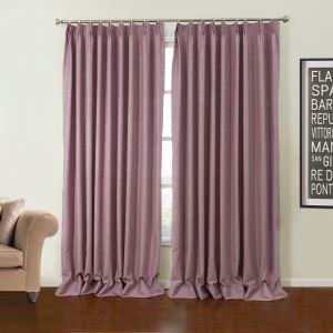 極細繊維カーテン オーダーカーテン UVカット エンボス加工 紫色 ポリエステル 1級遮光カーテン(1枚) LZ24